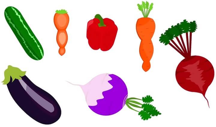 шаблон овощи