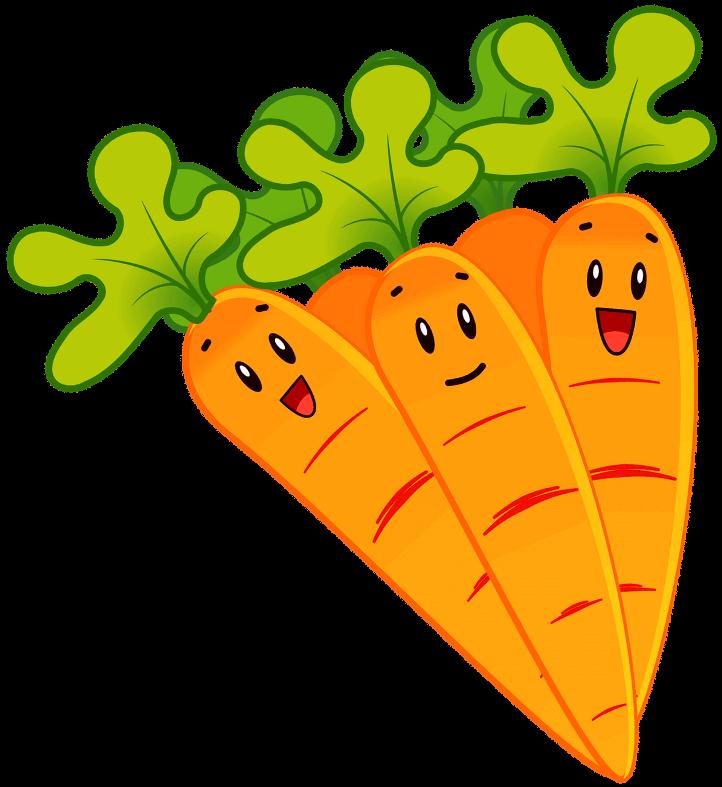 шаблон морковки