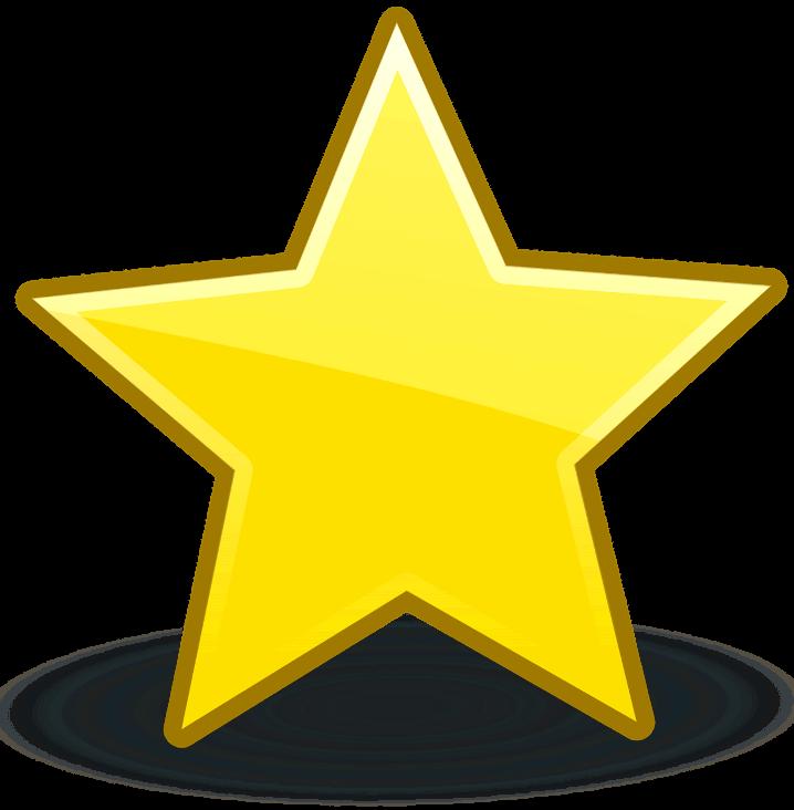 шаблон звезда желтая