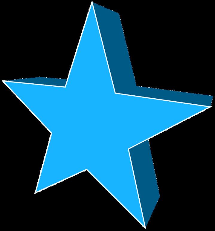 шаблон голубая звезда
