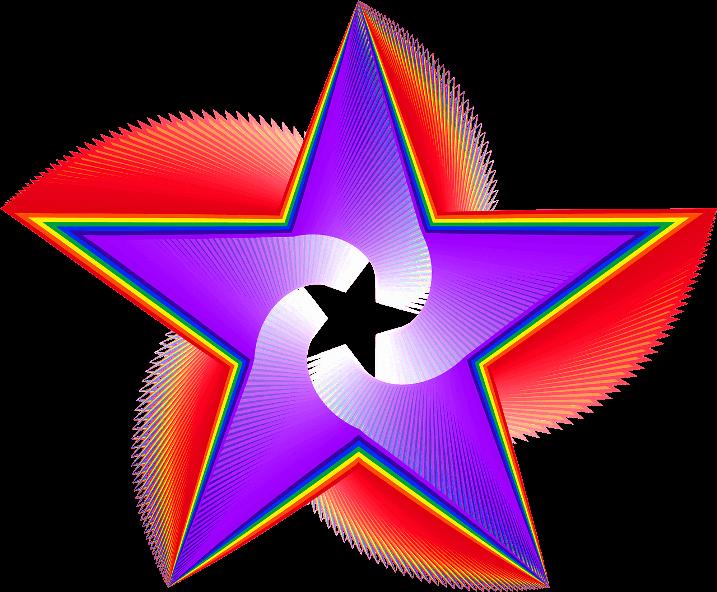 шаблон звезда объемная