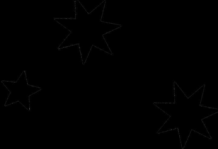 шаблон звездочки