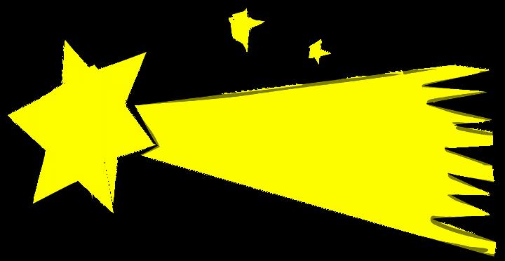шаблон звезда комета