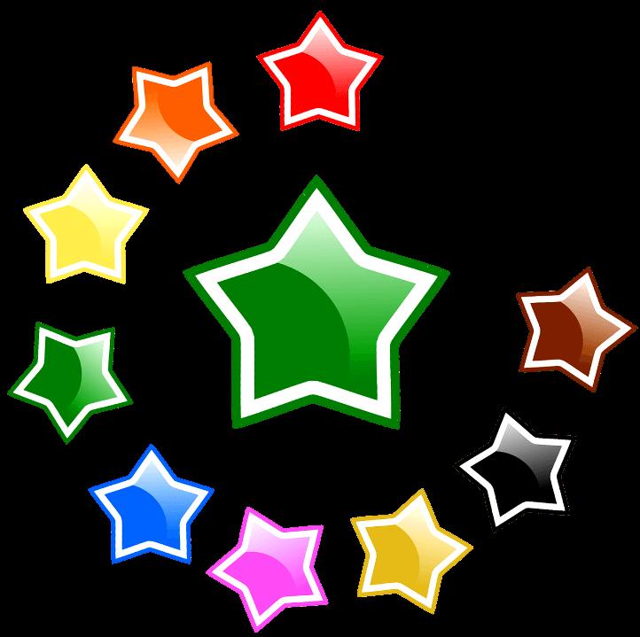 шаблон звезды цветные