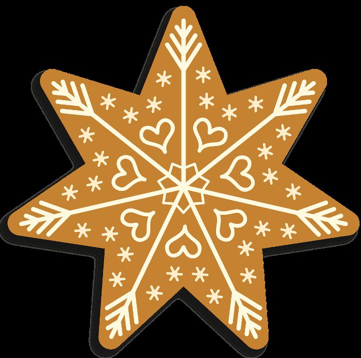 шаблон звезда пряничная