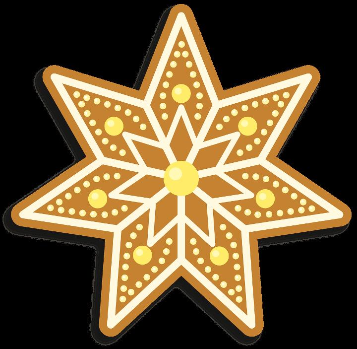 шаблон звезда пряник