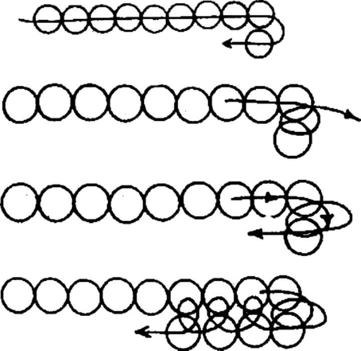 схема плетения полотно