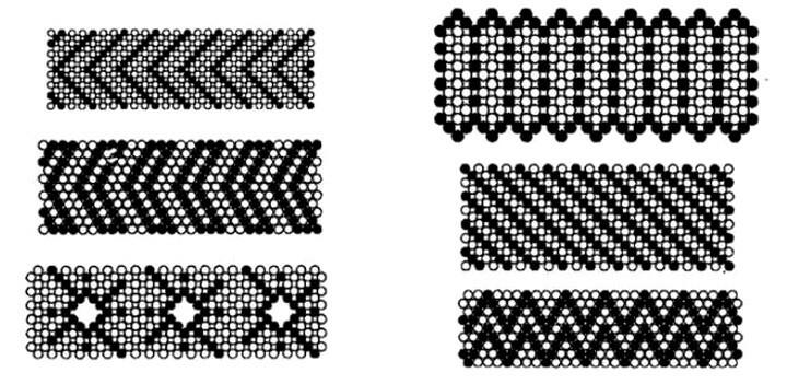 широкие браслеты схемы