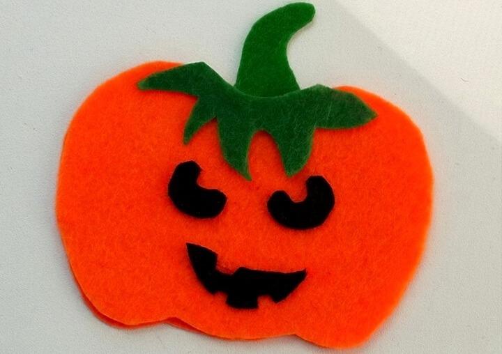 тыква на хэллоуин из фетра