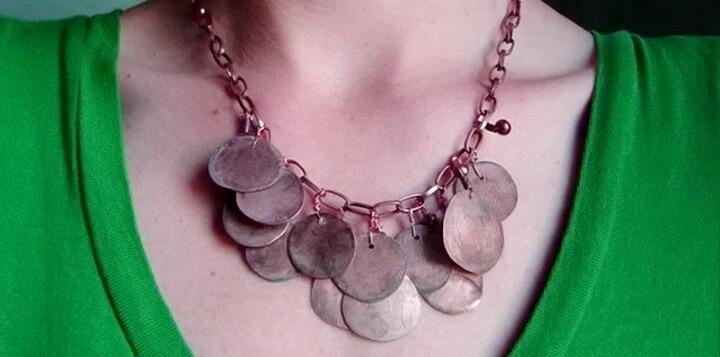 ожерелье из монеток