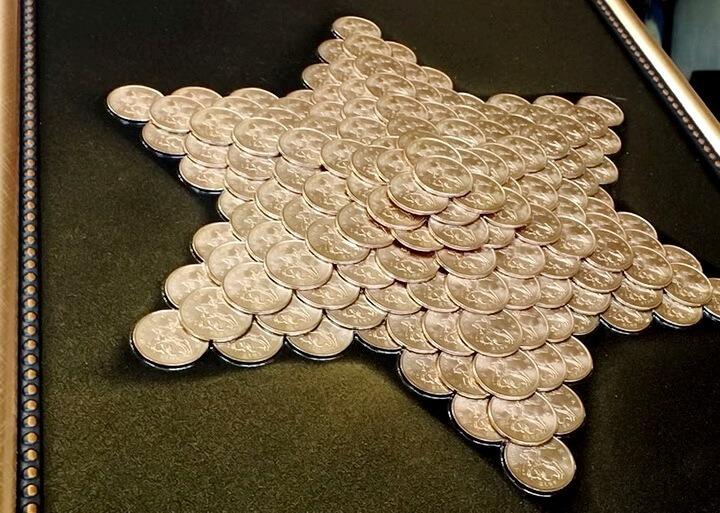 звезда из монеток