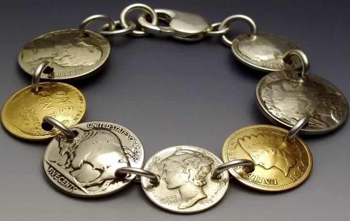 браслет из монеток