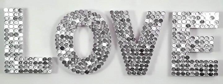буквы из монеток