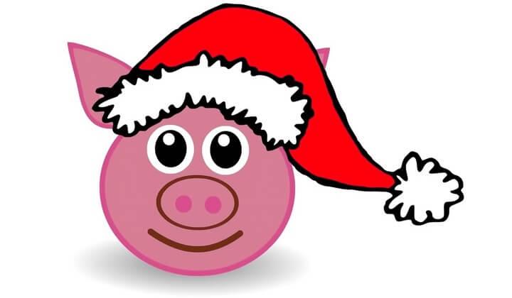 шаблон свиньи к новому году