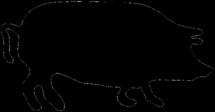 шаблон свиньи