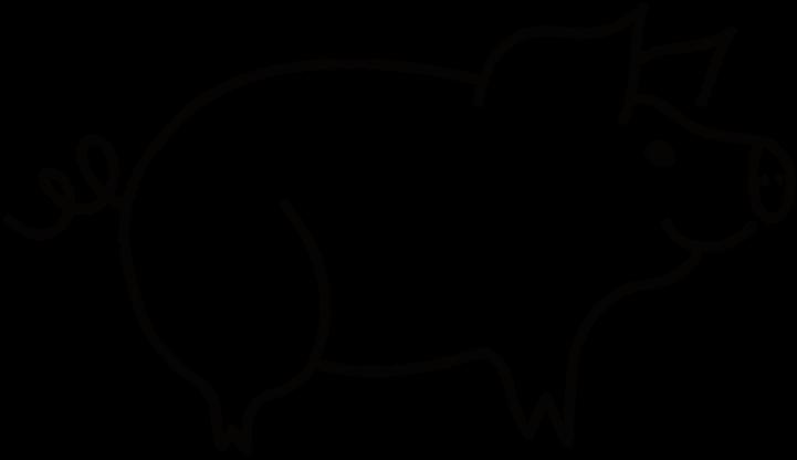 шаблон контур свиньи