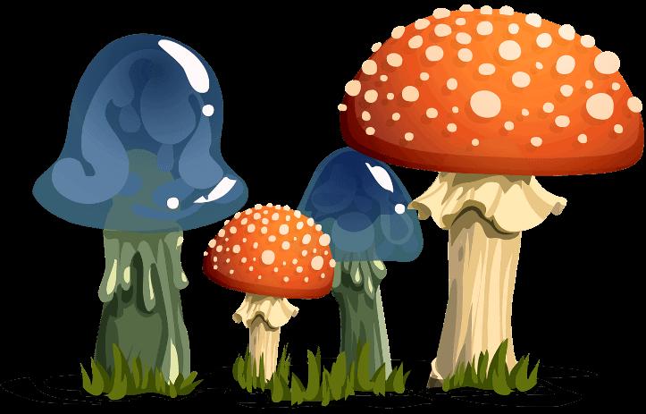 шаблон грибы-поганки