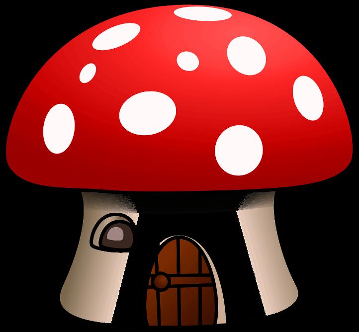 шаблон гриб-домик