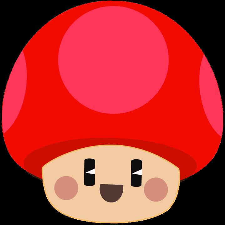 шаблон мультяшный гриб