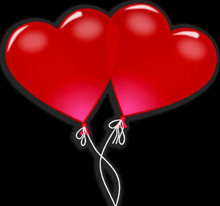 шаблон шарики-сердца