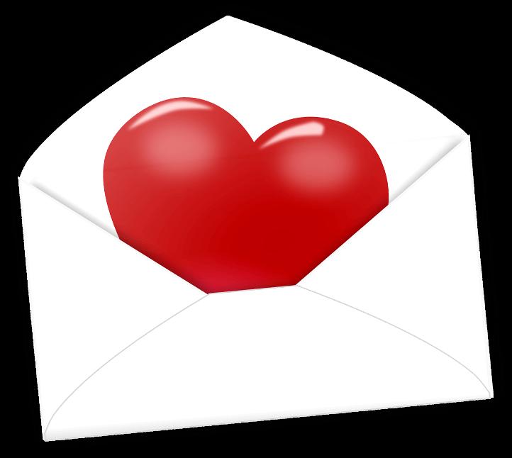 шаблон сердце в конверте