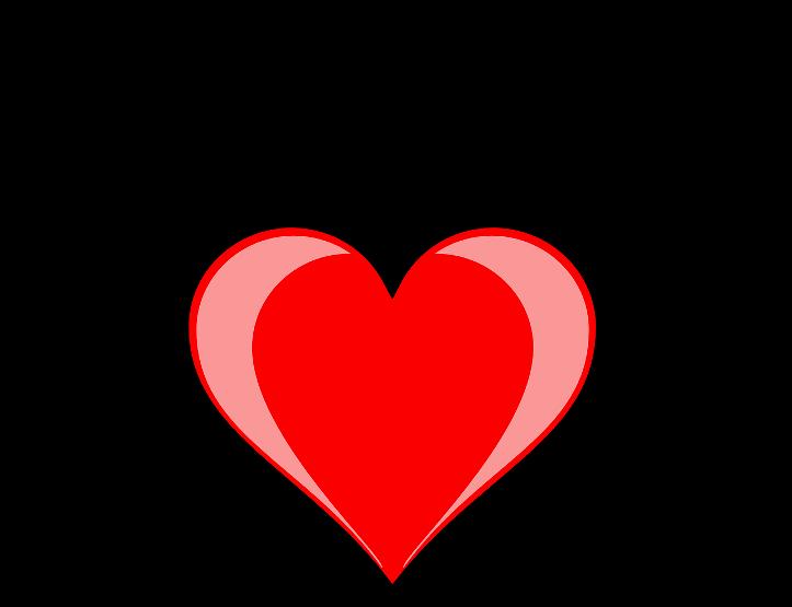 шаблон сердце с крыльями
