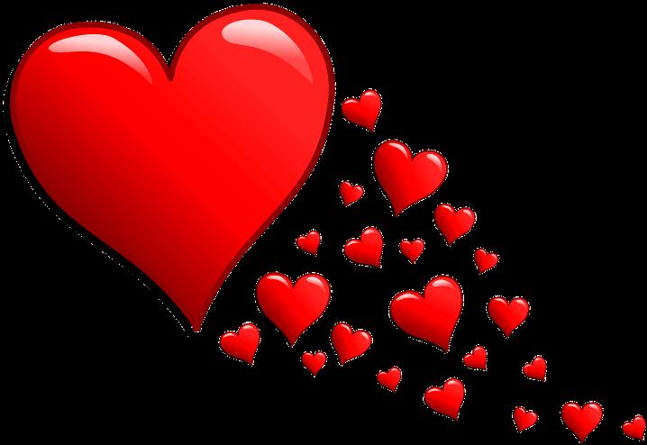 шаблон сердечки