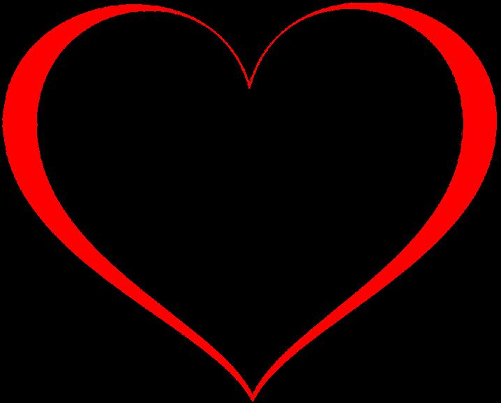 шаблон сердце контур
