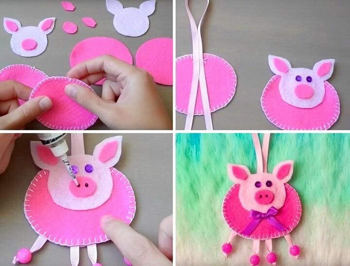 елочная игрушка свинка