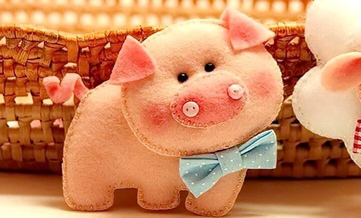 брошка свинья