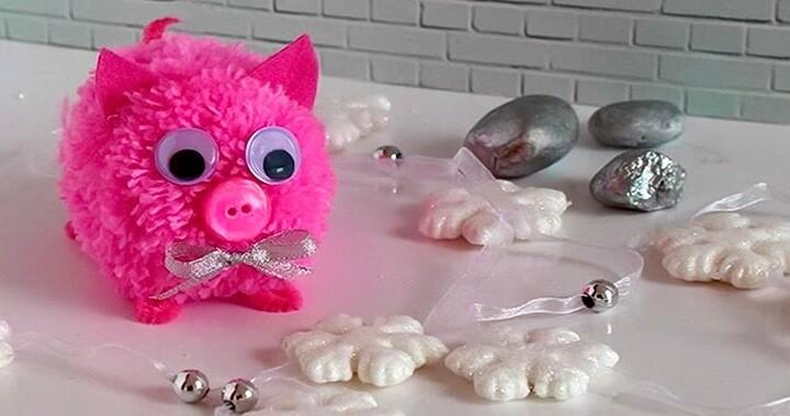 свинка-помпон