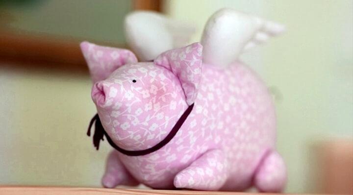 мягкая игрушка-свинка