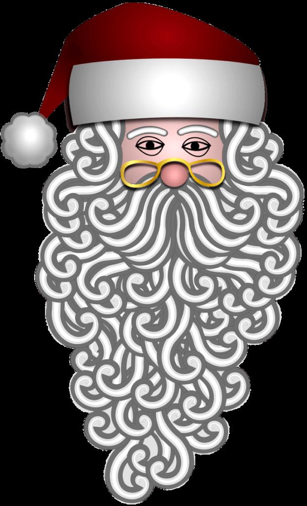 шаблон борода санты