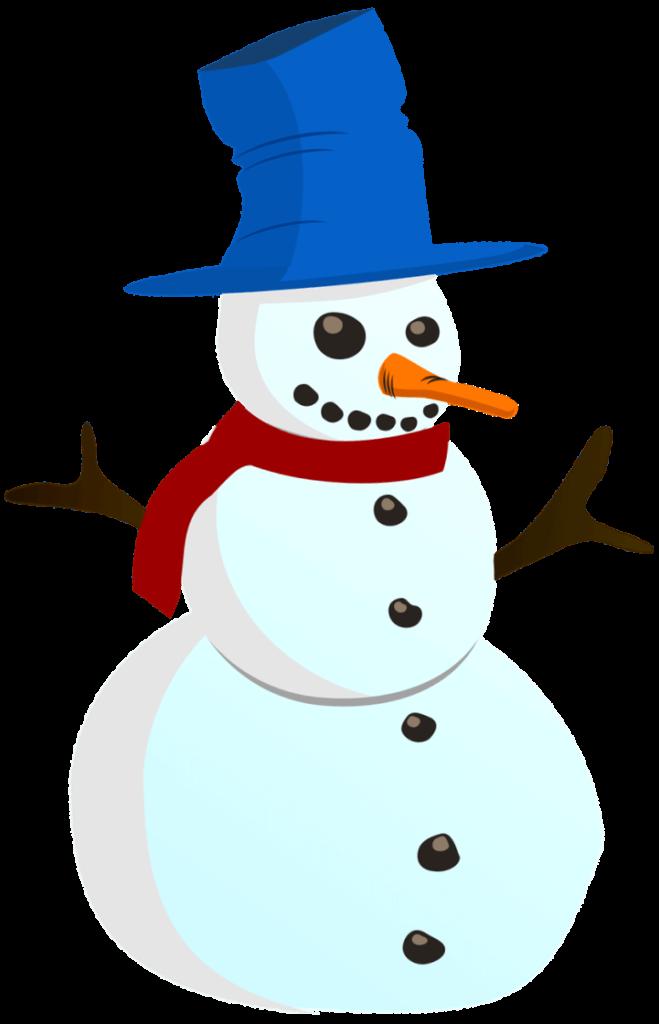 шаблон снеговик в шляпе