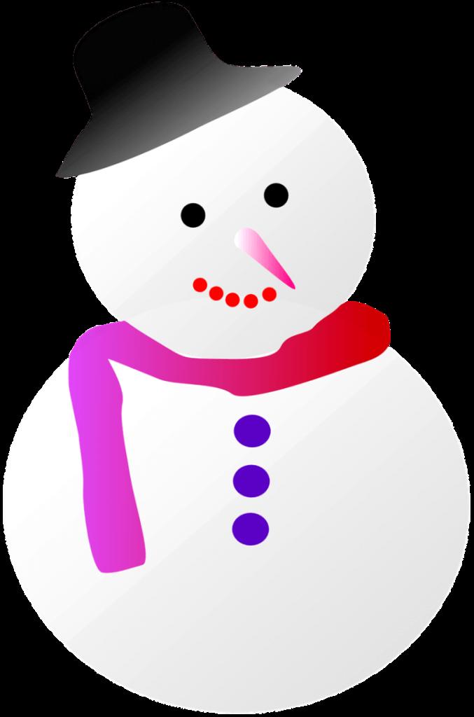 шаблон снеговик
