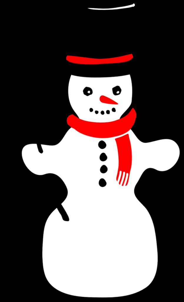шаблон снеговика с метлой