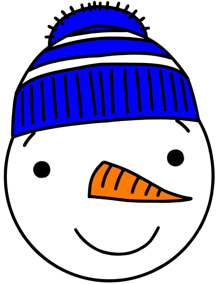 шаблон голова снеговика