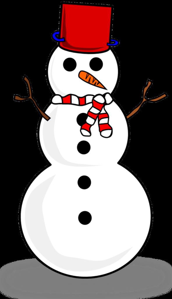шаблон снеговика в шляпе