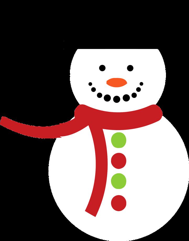 шаблон снеговик простой
