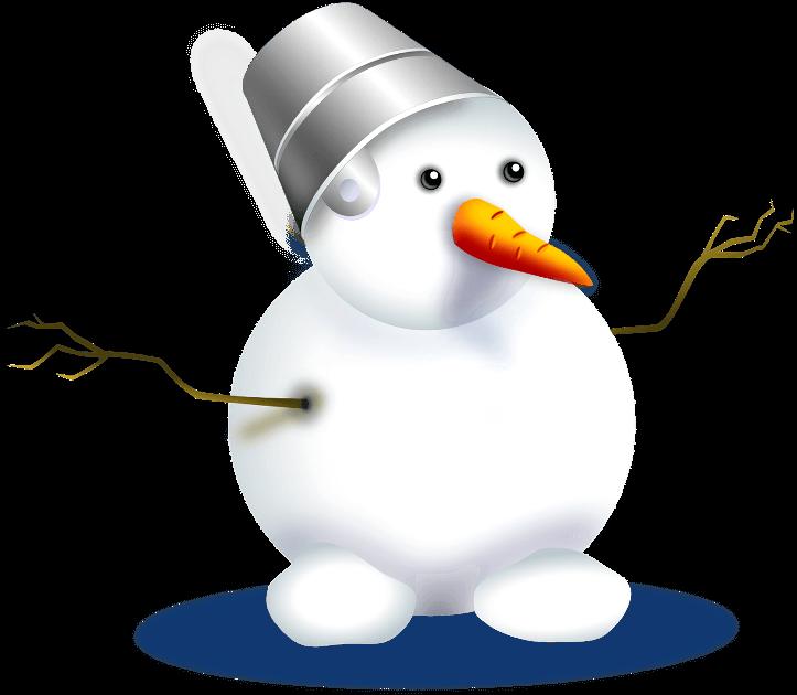 Картинка снеговика с морковкой