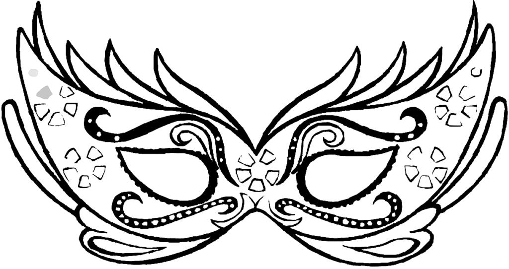 карнавальная маска трафарет