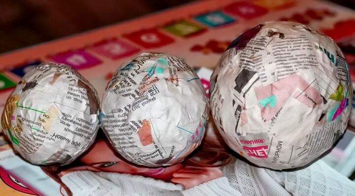 шарики из папье-маше