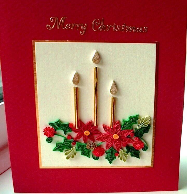 открытка со свечками квиллинг