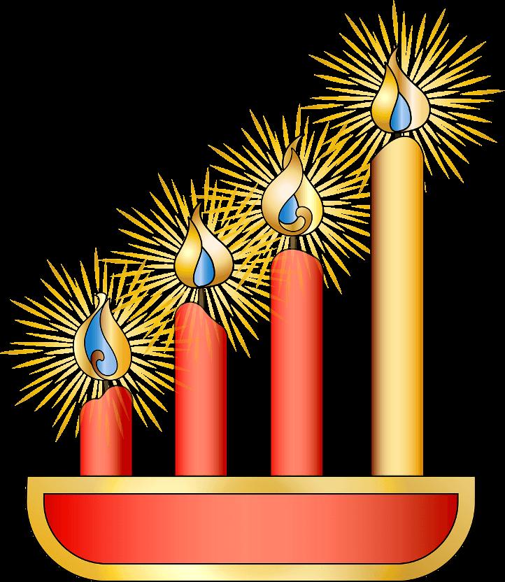 шаблон свечей