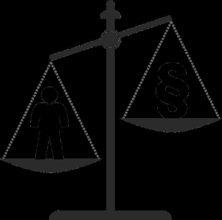 шаблон весы правосудия