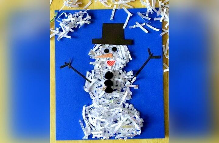 снеговик из газет