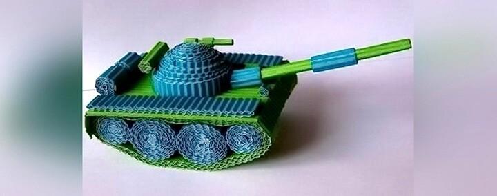 танк из картона