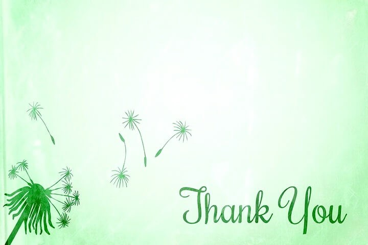 фон thank you