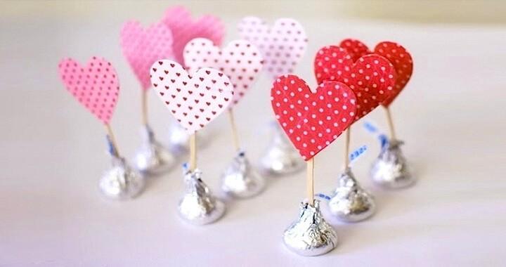 валентинки с конфетами