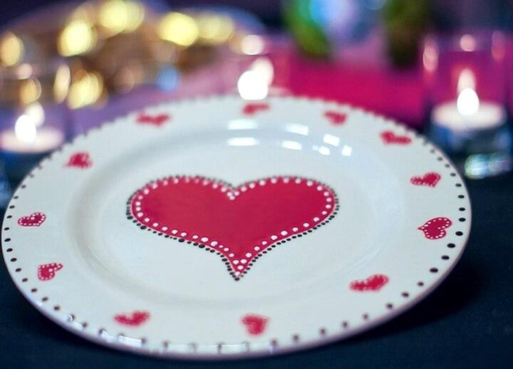 тарелка с сердечком